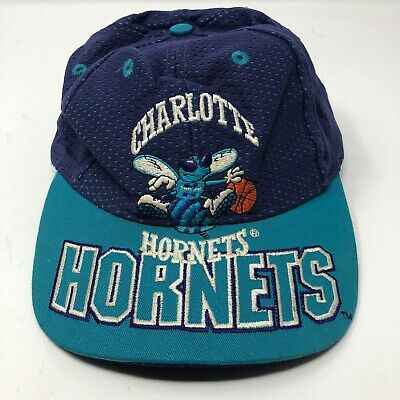 new styles 02d5b be971 Vintage Charlotte Hornets NBA The Game Mesh Limited Edition Teal Snapback  Hat