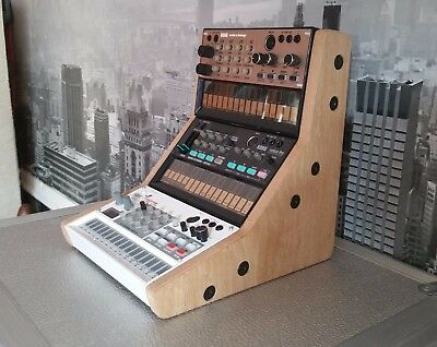 Mk1 Korg Volca Oak Veneered Triple Stand For Bass Beats Keys Fm Kick Sample