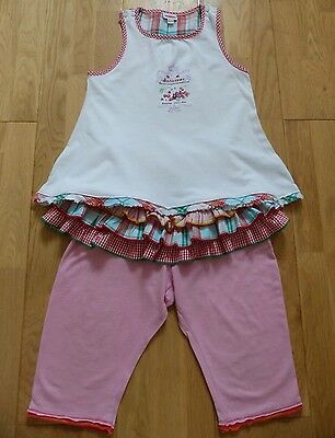 Catimini Super Cute Girls 2-Part Outfit (Top+Leggings) Size 4 yrs (102 cm) EUC