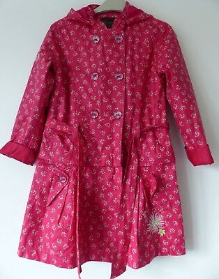 Catimini Girls Beautiful Hooded Raincoat & Short Jacket, Size 8 yrs, Good Cond!