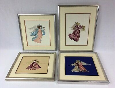 Lot Of 4 Dimensions Gold Collection RENAISSANCE ANGELS Matted & Framed Spiritual