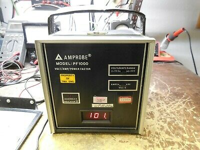 Amprobe PF1000 Digital Meter Power Factor Volts Amps *Works* *Clean*