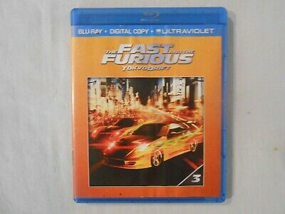 Fast & Furious Tokyo Drift  Blue Ray  Movie see description   FREE shipping