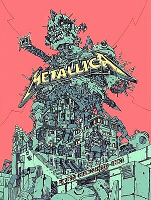 🔥 METALLICA VIP ONLY ARTIST PROOF LISBON PORTUGAL MAY 1st 2019 Josan Gonzalez