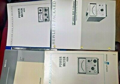 HP Hewlett Packard Volt Meters 3400A, 432A, 403V, 431C user & service manuals