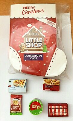 Coles Little Shop Christmas Edition- Case/ Folder and full set of minis