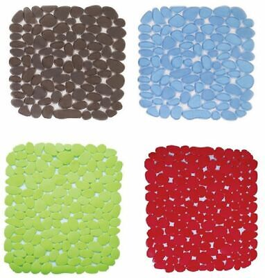 Deluxe Pebble Sink Mat Dish Drainer Glass Scratch Protector Kitchen Washing Up