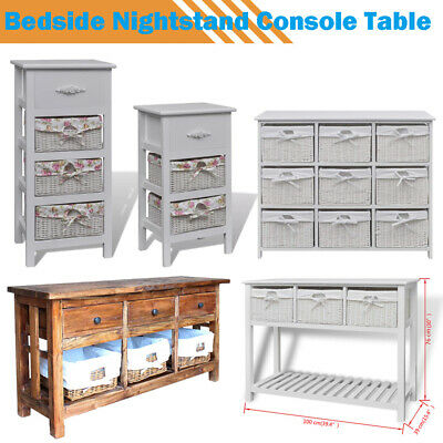 Console Table Storage Cabinet Baskets Units With Drawers Bedroom Bathroom Decor
