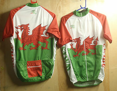 Kids/Junior/Childrens Pro Vision Welsh S/S Cycling Jersey  Uk P&P Free