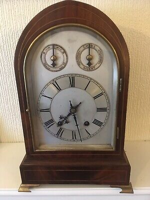 Solid Rosewood W&H Ting Tang Bracket Clock