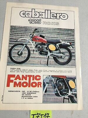 Fantic caballero 125 RC.KS  prospectus catalogue publicité brochure