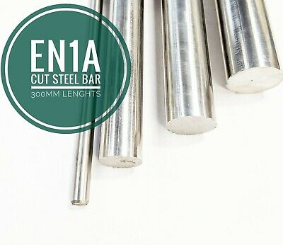 Bright Mild Steel Round Bar EN1A 3mm To 55mm Cut Lengths 300mm