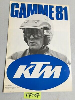 KTM 1981 cross enduro MC GS 125 240 420 390 175 prospectus catalogue publicité