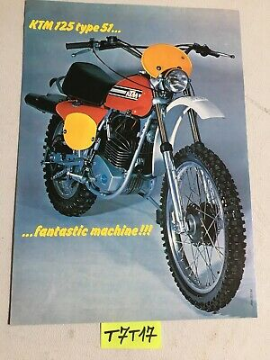 KTM 125 type 51 prospectus catalogue publicité brochure