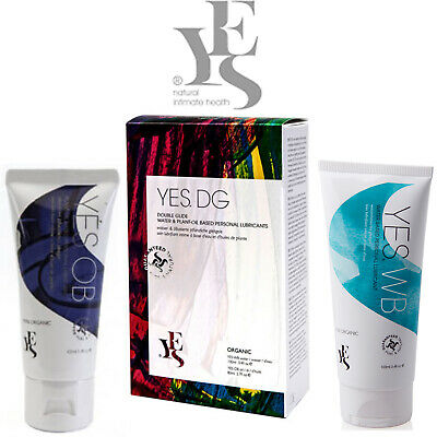 Yes DG Double Glide Organic Natural Lubricant Water Based WB + OB Lube Combo
