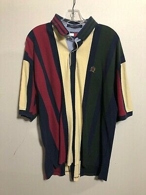 e4f56ad2 Vintage Tommy Hilfiger Multicolored Golf Polo XL 90s Striped Hip Hop