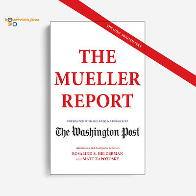 "By The Washington Post:The Mueller Report,Paperback – April 24, 2019 ""NEW"""