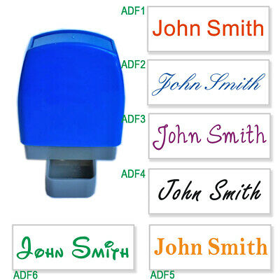 Custom Name Signature Self Inking Stamp Personalized 1 Line 31x10mm 6 fonts