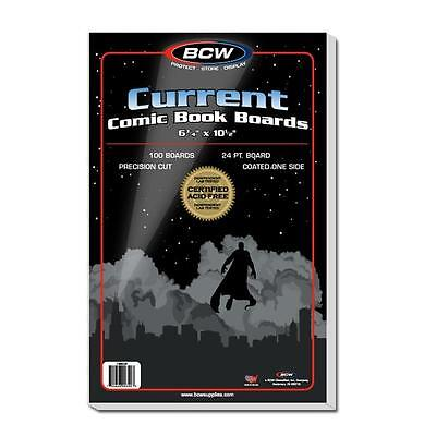 "25 loose - BCW Current Modern 6 3/4"" Comic Book Backing Backer Boards"