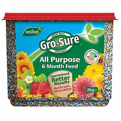 Westland Gro-Sure 2Kg 6-Month Slow Release Fertiliser Plant Food Pots Tub Basket