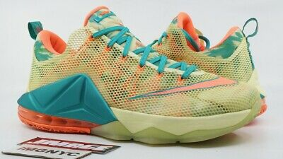 on sale 4cd5e 045b7 Nike Lebron 12 Low Prm Used Size 12 Lebronold Palmer White Lime Mango 776652  383