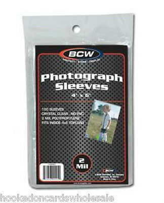 10 packs 1000 BCW Brand 4 x 6 Photo Postcard Poly Soft Sleeves Holders