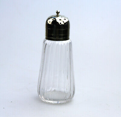 Antique Glass clear Muffineer / Sugar Shaker / Caster 6 C.19thC