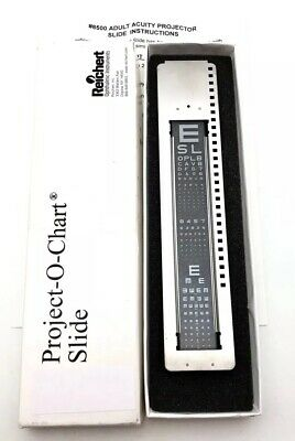 Used Project-O-Chart Slide Reichart With Box # 8500 Adult
