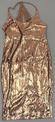 77009c3240ef Nasty Gal Women's Sequin Good Times Only Midi Dress GS2 Rose Gold Size US:6
