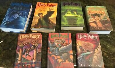 Lot Harry Potter Books Complete Series 1-7 Never Read