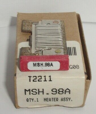 Eaton Cutler Hammer Msh.98A Thermal Heater Overload  For Ms Starter Msh98A Nib