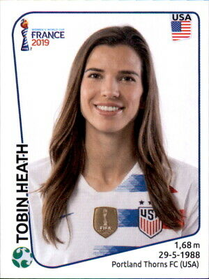 Panini Frauen WM 2019 Sticker 420 - Tobin Heath - USA