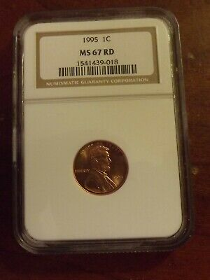 1995 Ngc Ms 67 Rd Lincoln Cent   * Rare*