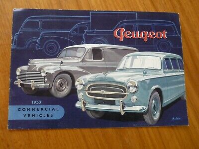 Rare 1957 Peugeot Commercial Vehicles Uk Market Brochure