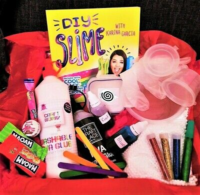 🌷 DIY Slime Kit With Karina Garcia Slime Book Glue Glitter Borax Activator