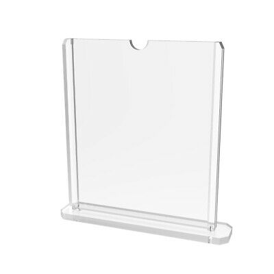 8 x 10 Table Tent Acrylic Sign Holder, Double-sided, Top Insert - Clear19075