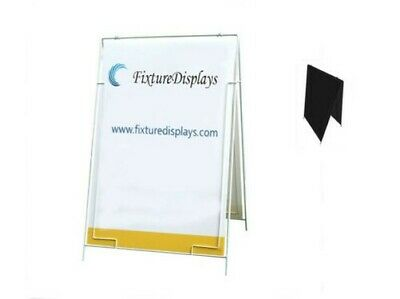 Wire A-Frame Menu Sign A-Board Grass Spike with Coroplast Sheet board