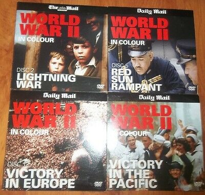 DVD x7 - WORLD WAR II IN COLOUR DISC 2, 4, 5, 6, 7, 12, 13 - NEWSPAPER PROMOTION