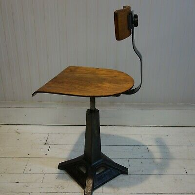 1930's Original Industrial Machine Stool by Singer Sewing Machine Company
