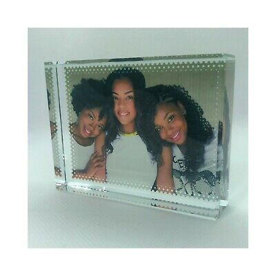 Photo Crystal Glass Block Custom Image and or Text High Quality Gift FREE Post
