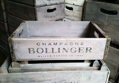 Vintage Retro Champagne Storage Crate, Fruit Crate Antique Style Wooden Boxes