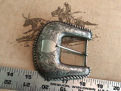 Bohlin vintage sterling buckle extra large Ranger Buckle Rope edge 3 1/2""