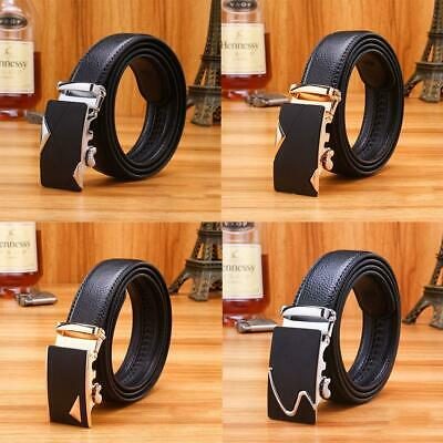 Men Automatic Buckle Artificial Leather Bussiness Casual Belts Waist