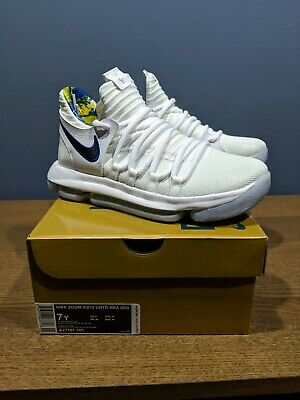 the latest 8592e 24c91 Nike Zoom KD 10 X LMTD NBA Golden State Warriors White Game Royal Shoes Sz  7y