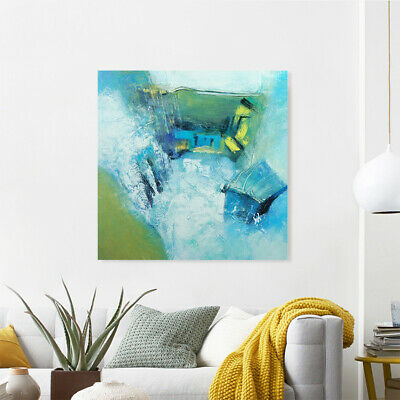 Hand Painted Abstract Art Canvas Oil Painting Wall Home Decor Framed Waterfall