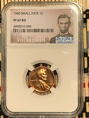 1960 Small Date  Lincoln 1c, NGC Certified PF 67 RD