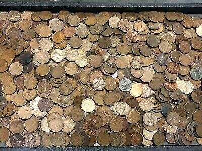 1000 Wheat pennies1909-1958 P,D/&S mints  Circulated Condition