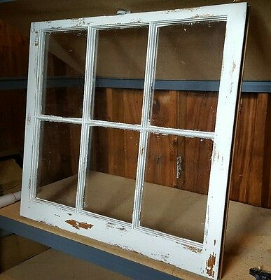 Vintage Sash Antique Wood Window Picture Frame Pinterest  Distressed Shabby Chic