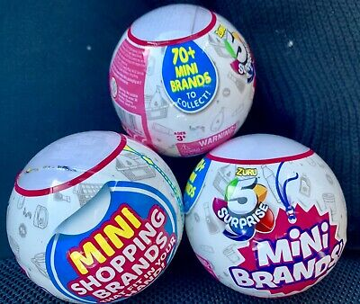 5 Surprise Mini-Brands - 1 Ball (contains 5 total figs.) By ZURU