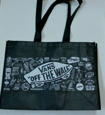 520a2ade8 Vans Off The Wall Tote Beach Reusable Shopping Grocery Bag Black  Checkerboard